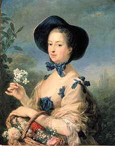 ポンパドゥール夫人の髪型